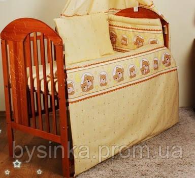 Комплекты детской постели в кроватку из 7 эл.(без кармана) №170. Мишки в круге