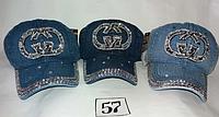 Джинсовая женская кепка р-р 57.