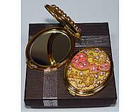 Зеркальце двухстороннее в подарочной упаковке Австрия №6960-T70G-13