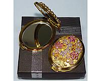 Зеркальце двухстороннее в подарочной упаковке Австрия №6960-T70G-15