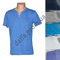 Мужская котоновая футболка RB3715 (в уп. до 5 разных расцветок) оптом со склада в Одессе