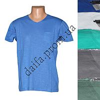 Мужская котоновая футболка RB3717 (в уп. до 5 разных расцветок) оптом со склада в Одессе