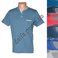 Мужская котоновая футболка RB3731 (в уп. до 5 разных расцветок) оптом со склада в Одессе