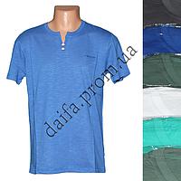 Мужская котоновая футболка RB3738 (в уп. до 5 разных расцветок) оптом со склада в Одессе