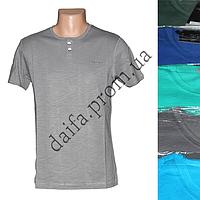 Мужская котоновая футболка RB3739 (в уп. до 5 разных расцветок) оптом со склада в Одессе