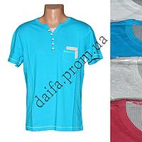 Мужская котоновая футболка RB3740 (в уп. до 5 разных расцветок) оптом со склада в Одессе