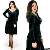 Зеленое платье 48075, большого размера