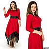 Красное платье 48502, большого размера