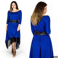 Платье 48502, цвет электрик, большого размера