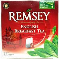 Чай черный Remsey Earl Grey английский завтрак Польша 75 пакетиков