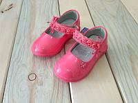 Коралловые стильные туфли на девочку 20, 22, 25 размер