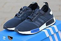 Мужские кроссовки Adidas NMD, сетка, темно синие / беговые  кроссовки мужские Адидас НМД, стильные