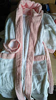 Дитячий халат Hamam Baby Child 6-7 років біло-рожевий, фото 1