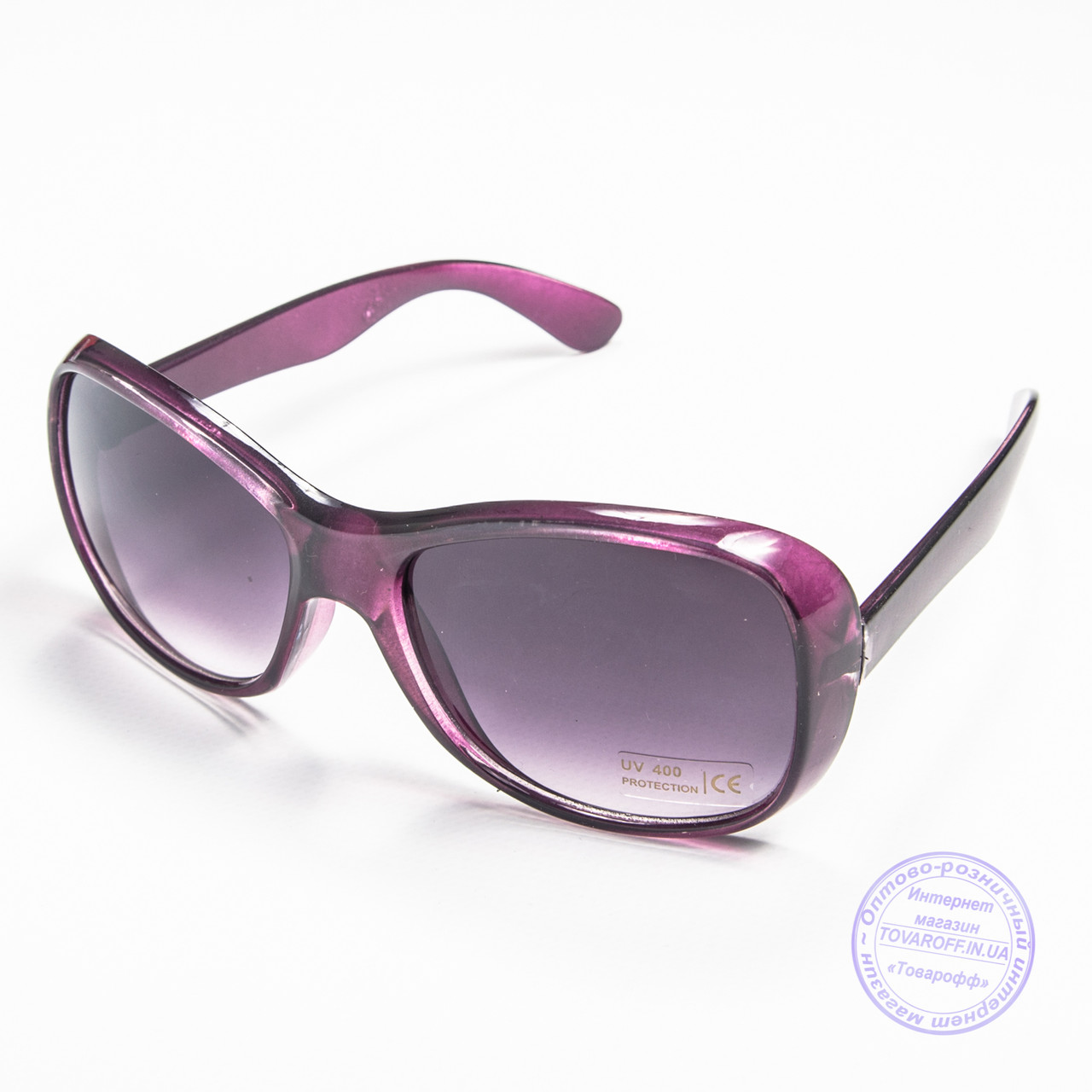 Оптом женские солнцезащитные очки - Фиолетовые - B922