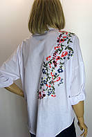 Блузка белая с вышивкой Berin