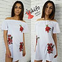 Платье-туника с розами
