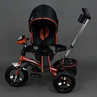 Трехколёсный детский велосипед Best Trike 6590 бронзовый с надувными колесами, фото 1