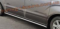 Боковые пороги трубы из нержавейки на Volkswagen Touareg 2002-2010