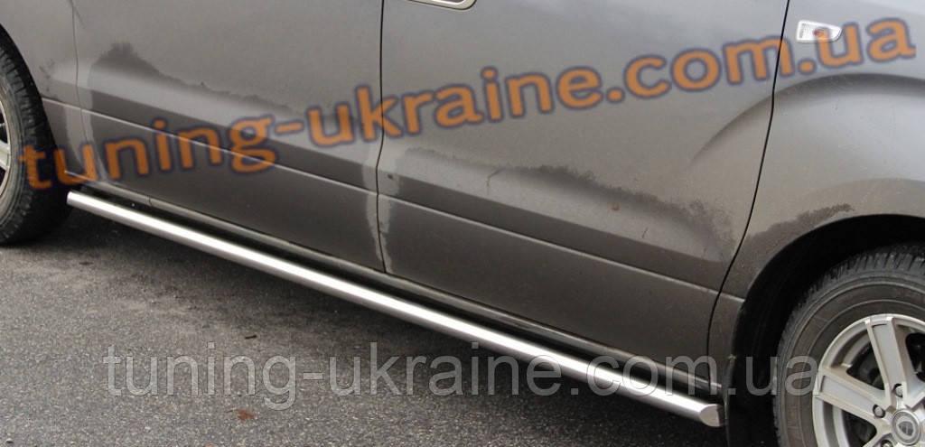 Боковые пороги трубы из нержавейки на Honda CR-V 2012-2015 - ООО Tuning Avto в Харькове