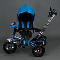 Трехколёсный детский велосипед Best Trike 6590 синий с надувными колесами, фото 1