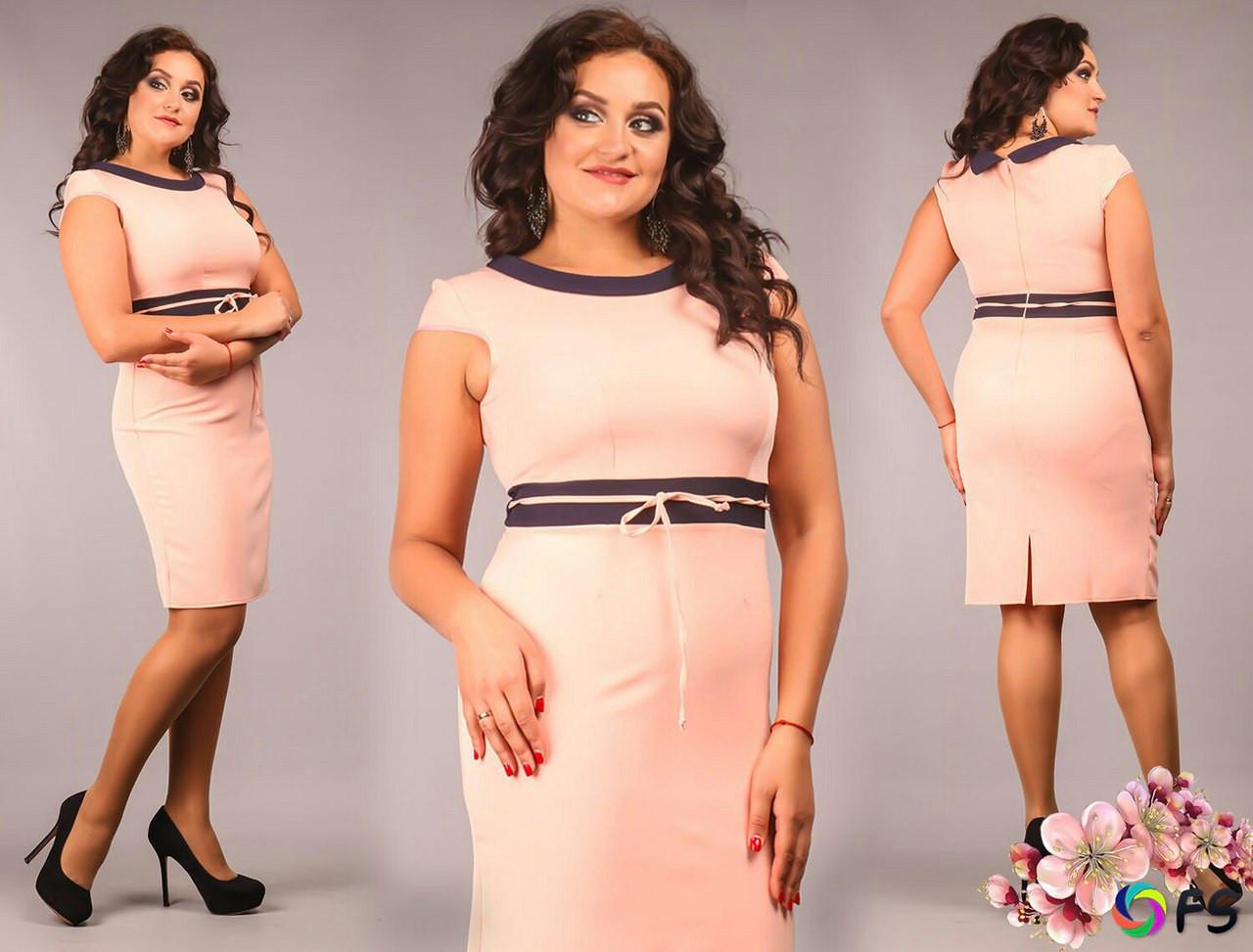 cac098e1ab5 Купить Платье большого размера трикотаж оптом и в розницу от ...
