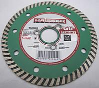 Алмазный диск для резки гранита, мрамора, бетона под фланец Haisser Turbo 125x2,2x8x22,23  G6 GRANITE