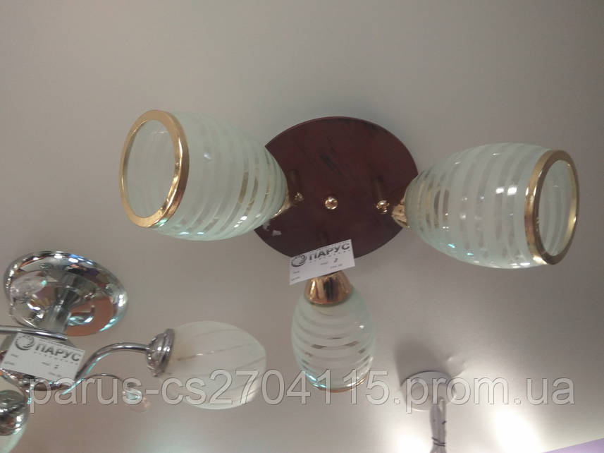 Люстра потолочная на 3 рожка с регулируемыми плафонами