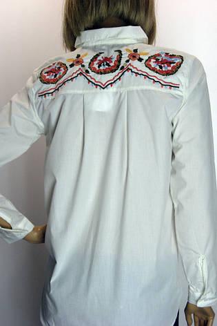 Жіноча біло-молочна блузка з вишивкою Saloon, фото 2