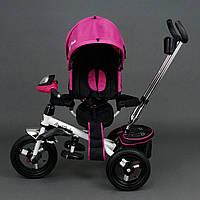Трехколёсный детский велосипед Best Trike 6590 розовый с надувными колесами