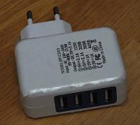 Сетевое зарядное устройство 4 USB адаптер блок питания зарядка зарядний ЗУ