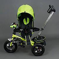 Трехколёсный детский велосипед Best Trike 6590 салатовый с надувными колесами
