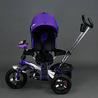Трехколёсный детский велосипед Best Trike 6590 фиолетовый с надувными колесами