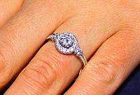 Кольцо серебро 925 проба 18 размер АРТ1186, фото 1