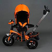Трехколёсный детский велосипед Best Trike 6590 оранжевый с надувными колесами, фото 1