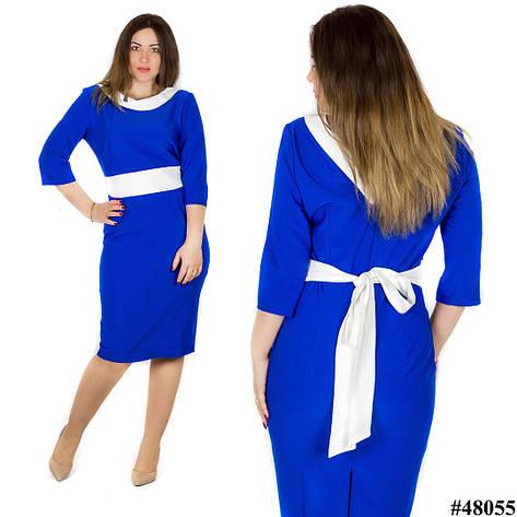 Платье электрик 48055, большого размера, фото 2