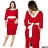 Красное платье 48055, большого размера