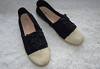 Эспадрильи Chanel, цвет черный