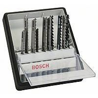 Набор пильных полотен по дереву Bosch 10 шт ROBUST LINE