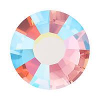 Стразы в цапах Preciosa (Чехия) ss10 Light Rose AB/серебро