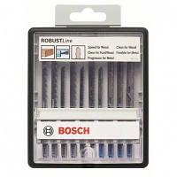 Набор пильных полотен по дереву/металлу Bosch 10 шт ROBUST LINE