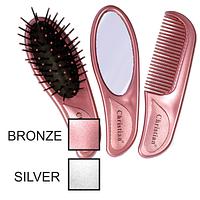 Набор: «мокрая» щетка для волос, гребешок, зеркальце