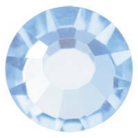Стразы в цапах Preciosa (Чехия) Aquamarine/серебро