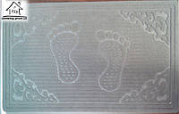Тканевый коврик Велюр Лапы 80*50 см (серый)