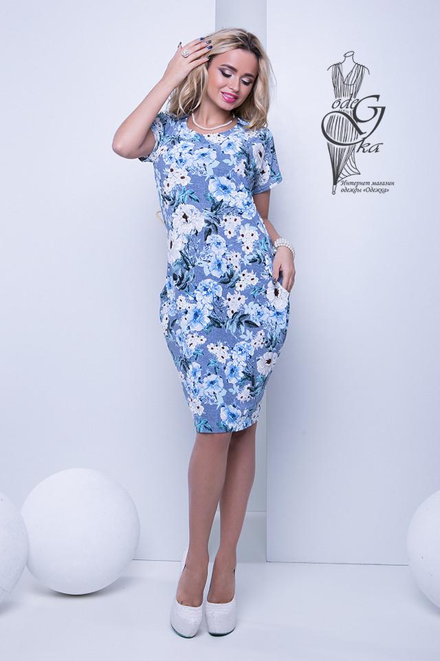 Фото Женских летних платьев большого размера Лонда-4