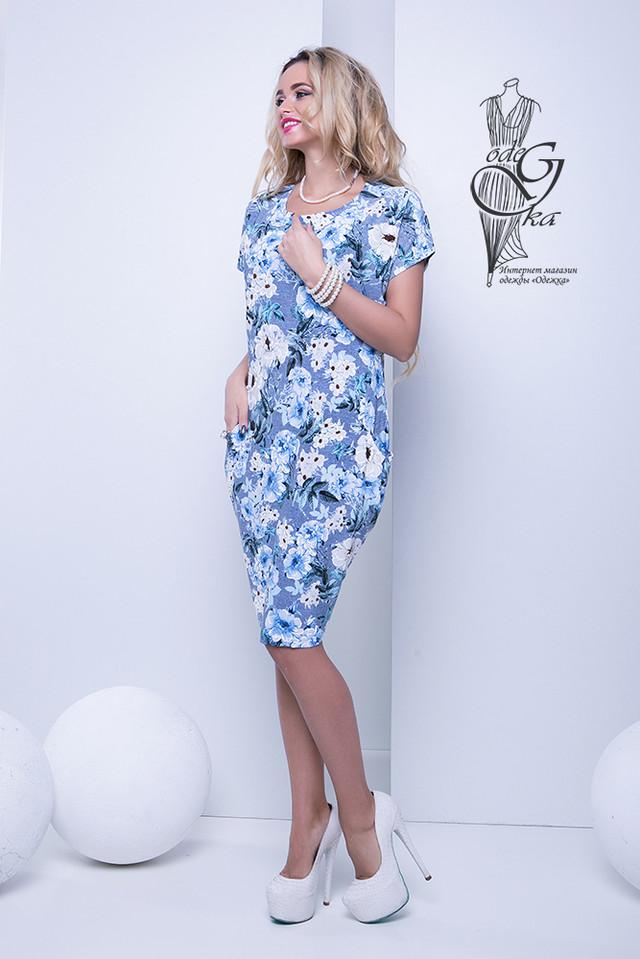 Фото-1 Женских летних платьев большого размера Лонда-4