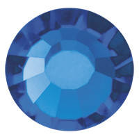 Стразы в цапах Preciosa (Чехия) ss20 Capri Blue/серебро