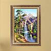 """Картина для рисования камнями Diamond painting Алмазная вышивка """"Горный ручей"""" частичная"""
