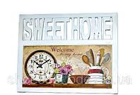 "Настенные часы панно рамка ""SWEET HOME"" в стиле Прованс"