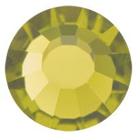 Стразы в цапах Preciosa (Чехия) ss20 Olivine/серебро