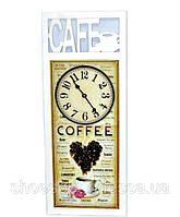 """Оригинальные настенные часы в рамке """"CAFE"""" в стиле Прованс"""